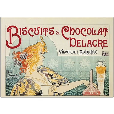 Trademark Global in.Biscuits and Chocolate Delacrein. Framed Canvas, 35in. x 47in.