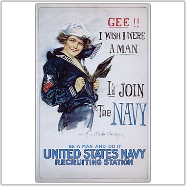 Trademark Global in.US Navy Womanin. Gallery Wrapped Canvas Art, 24in. x 32in.