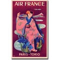 Trademark Global Taruchi in.Air France Paris Tokyoin. Gallery Wrapped Canvas Art, 24in. x 32in.