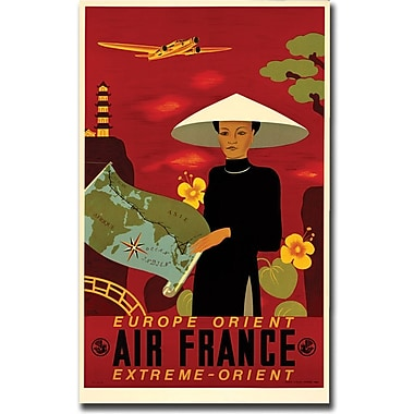 Trademark Global in.Air France Orient Expressin. Canvas Art, 18in. x 24in.