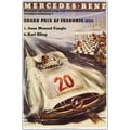 Trademark Global in.Mercedes Benzin. Framed Canvas, 32in. x 47in.