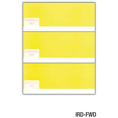 Relyco® IRD/Substitute Check, 8 1/2in.(W) x 11in.(L), Non Thermo, White, 3-Up Forward, 2500 Sheets
