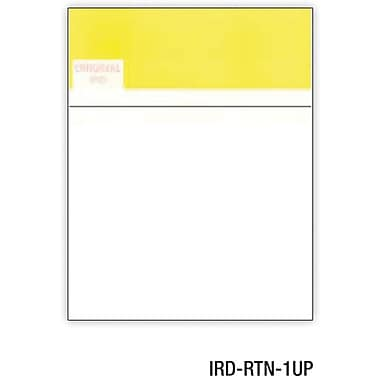 Relyco® IRD/Substitute Check, 8 1/2in.(W) x 11in.(L), White, 1-Up Return, 1000 Sheets
