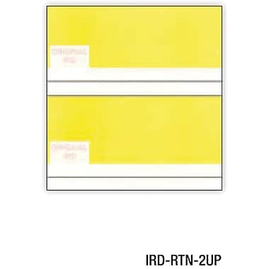 Relyco® IRD/Substitute Check, 8 1/2in.(W) x 8 1/2in.(L), White, 2-Up Return, 2500 Sheets
