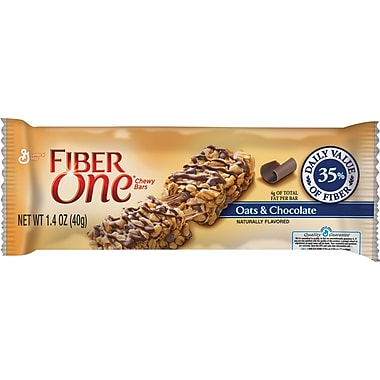 Fiber One Chewy Bars, Oats & Chocolate, 1.4 oz., 16 Bars/Box