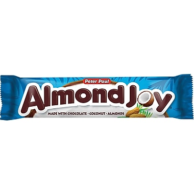 Almond Joy Candy Bars, 1.61 oz. Bars, 36 Bars/Box
