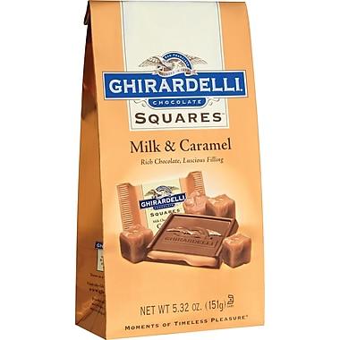 Ghirardelli Chocolate Squares Bags, Milk & Caramel, 5.32 oz., 12 Bags/Box