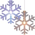 Trademark Home™ Color Changing Snowflake Window Ornament, Set of 6 LED