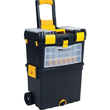 Trademark Tools™ Deluxe Mobile Workshop and ToolBox, 10 1/2in. L x 18in. W x 24 1/2in. H