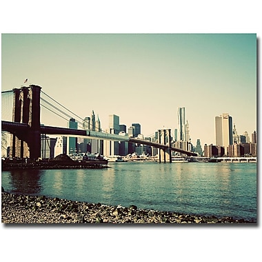 Trademark Global Ariane Moshayedi in.Brooklyn Bridge 2in. Canvas Art, 16in. x 24in.