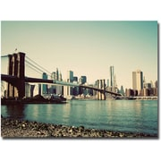 "Trademark Global Ariane Moshayedi ""Brooklyn Bridge 2"" Canvas Art, 30"" x 47"""