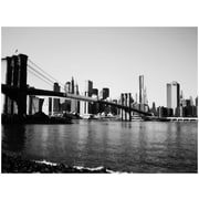 "Trademark Global Ariane Moshayedi ""Brooklyn Bridge III"" Canvas Art, 16"" x 24"""