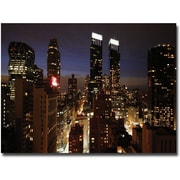 "Trademark Global Ariane Moshayedi ""City Lights"" Canvas Art, 16"" x 24"""