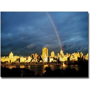 "Trademark Global Ariane Moshayedi ""City Rainbow II"" Canvas Art, 30"" x 47"""