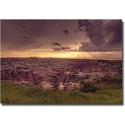 "Trademark Global Ariane Moshayedi ""Badlands Sunset"" Canvas Art, 14"" x 19"""