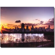 "Trademark Global Ariane Moshayedi ""Central Park Sunrise"" Canvas Arts"