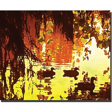 Trademark Global Amy Vangsgard in.Ducks on Lake Red Lightin. Canvas Art, 26in. x 32in.