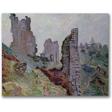 Trademark Global Jean Baptiste Guillaminin.Ruins In The Fogin. Canvas Art, 18in. x 24in.