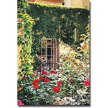 Trademark Global David Lloyd Glover in.Afternoon in the Rose Gardenin. Canvas Art, 16in. x 24in.