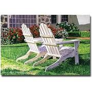 Trademark Global David Lloyd Glover White Chairs is Carmelina Canvas Art, 22 x 32