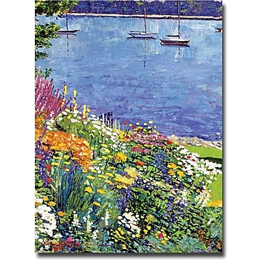 Trademark Global David Lloyd Glover in.Sailboat Bay Gardenin. Canvas Art, 18in. x 24in.
