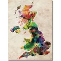 Trademark Global Michael Tompsett in.UK Watercolour Mapin. Canvas Arts