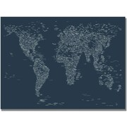 "Trademark Global Michael Tompsett ""Font World Map VI"" Canvas Arts"