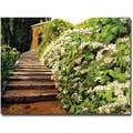 Trademark Global David Lloyd Glover in.Garden Stairway Tuscanyin. Canvas Arts