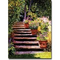 Trademark Global David Lloyd Glover in.Pink Faisies Wooden Stepsin. Canvas Art, 18in. x 24in.