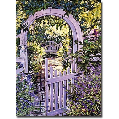 Trademark Global David Lloyd Glover in.Country Garden Gatein. Canvas Art, 35in. x 47in.