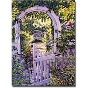 "Trademark Global David Lloyd Glover ""Country Garden Gate"" Canvas Art, 18"" x 24"""