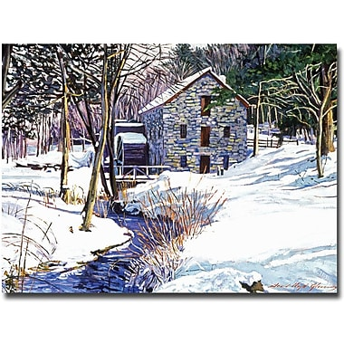 Trademark Global David Lloyd Glover in.Snow Millin. Canvas Art, 18in. x 24in.