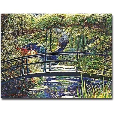 Trademark Global David Lloyd Glover in.Giverny Footbridgein. Canvas Art, 18in. x 24in.