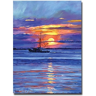 Trademark Global David Lloyd Glover in.Salmon Trawler at Sunrisein. Canvas Art, 18in. x 24in.