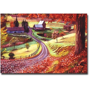 Trademark Global David Lloyd Glover in.Road to Maplegrover Farmsin. Canvas Art, 22in. x 32in.