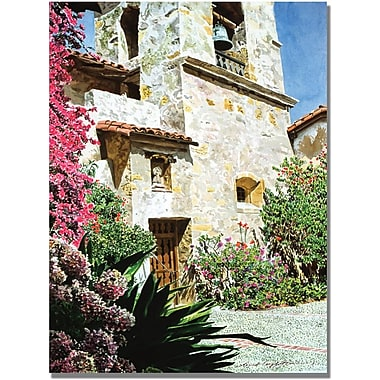 Trademark Global in.David Lloyd Glover Mission Carmel Bell Towerin. Canvas Art, 22in. x 32in.