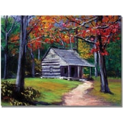 "Trademark Global David Lloyd Glover ""Old Cabin"" Canvas Art, 35"" x 47"""