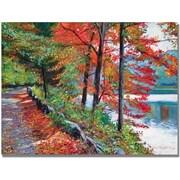 "Trademark Global David Lloyd Glover ""Rockefeller Park"" Canvas Art, 18"" x 24"""
