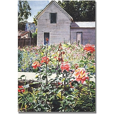 Trademark Global David Lloyd Glover in.Rose Gardenin. Canvas Arts