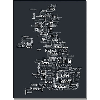 Trademark Global Michael Tompsett in.UK Font Citiesin. Canvas Arts