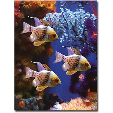 Trademark Global Amy Vangsgard in.Three Pajama Fishin. Canvas Art, 24in. x 32in.