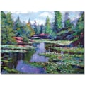 Trademark Global David Lloyd Glover in.Summer Waterlilliesin. Canvas Art, 35in. x 47in.
