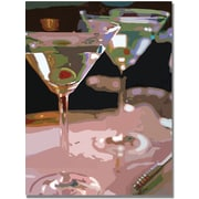 "Trademark Global Ariane Moshayedi ""Two Martini Lunch"" Canvas Art, 35"" x 47"""