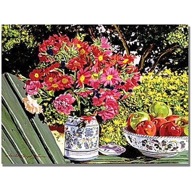 Trademark Global David Lloyd Glover in.Apples and Flowersin. Canvas Art, 18in. x 24in.