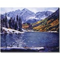 Trademark Global David Lloyd Glover in.Rocky Mountain Solitudein. Canvas Art, 35in. x 47in.