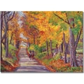 Trademark Global David Lloyd Glover in.Autumn Ridein. Canvas Art, 18in. x 24in.