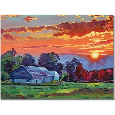 Trademark Global David Lloyd Glover in.The Sun Sets Over The Hillin. Canvas Arts