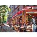 Trademark Global David Lloyd Glover in.Paris Cafein. Canvas Art, 35in. x 47in.