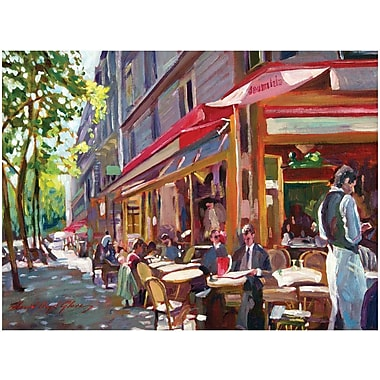 Trademark Global David Lloyd Glover in.Paris Cafein. Canvas Art, 24in. x 32in.