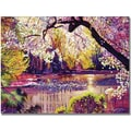 Trademark Global David Lloyd Glover in.Central Park Spring Pondin. Canvas Art, 24in. x 32in.